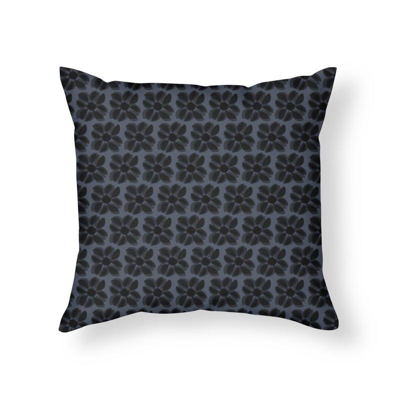 Redaka (Black/Blue) Home Throw Pillow by trebam