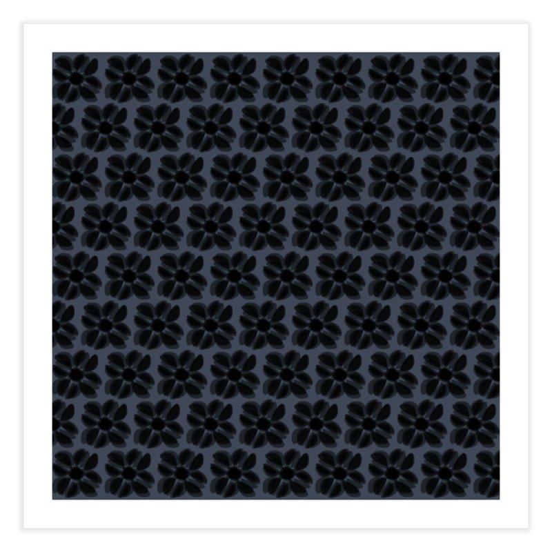Redaka (Black/Blue) Home Fine Art Print by trebam