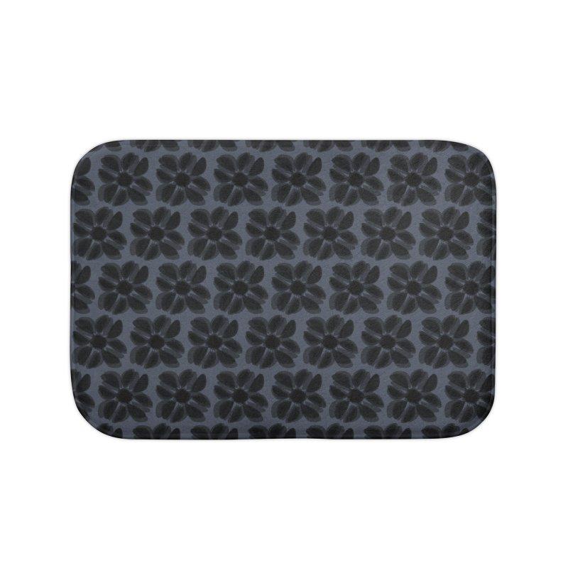 Redaka (Black/Blue) Home Bath Mat by trebam