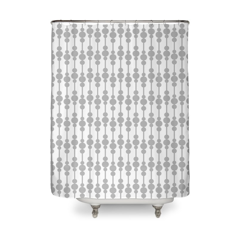Perle (Gray/White) Home Shower Curtain by trebam