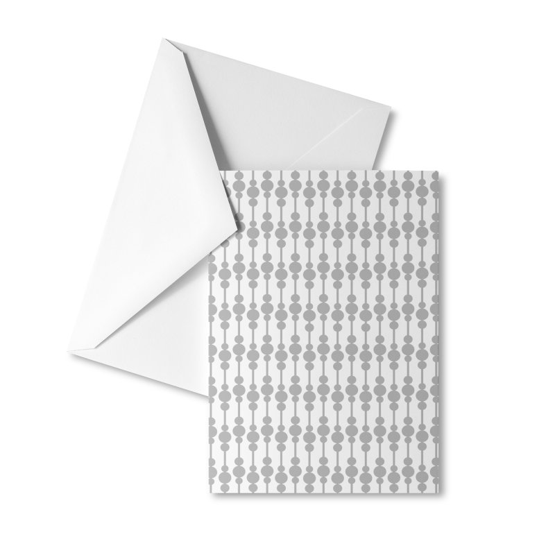 Perle (Gray/White) Accessories Greeting Card by trebam