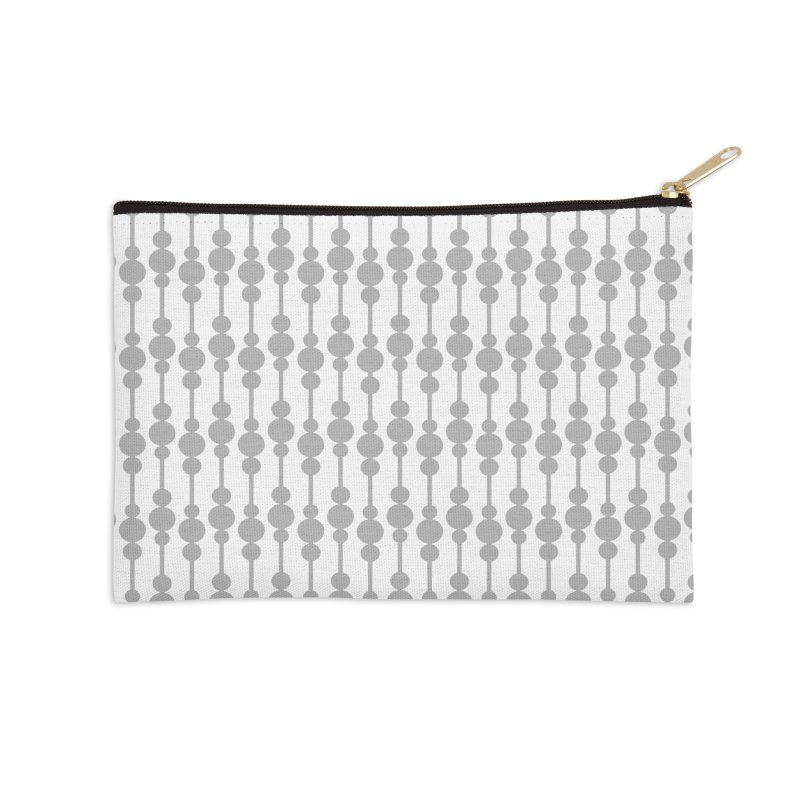 Perle (Gray/White) Accessories Zip Pouch by trebam