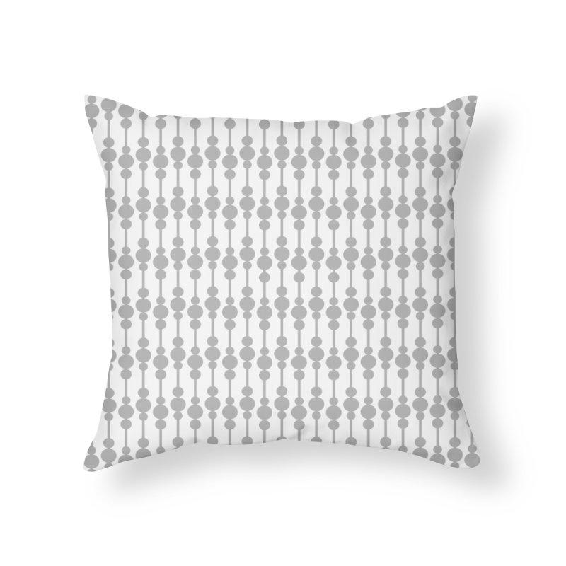 Perle (Gray/White) Home Throw Pillow by trebam
