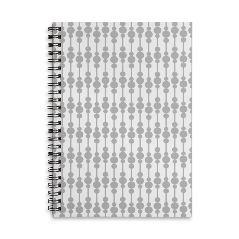 Perle (Gray/White) Accessories Notebook by trebam