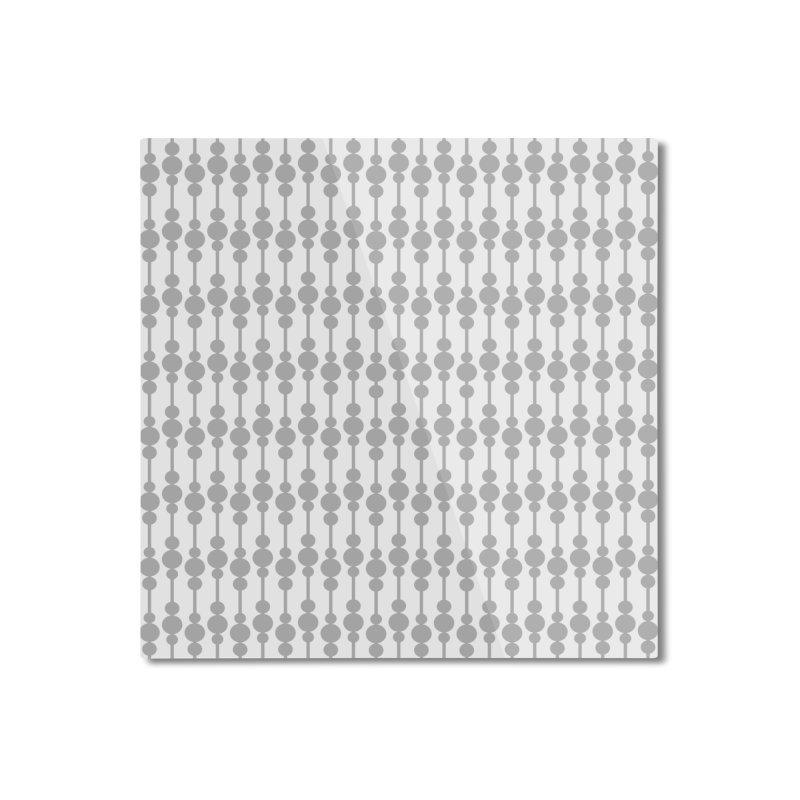Perle (Gray/White) Home Mounted Aluminum Print by trebam