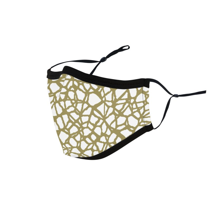 Staklo (Brown) Accessories Face Mask by trebam