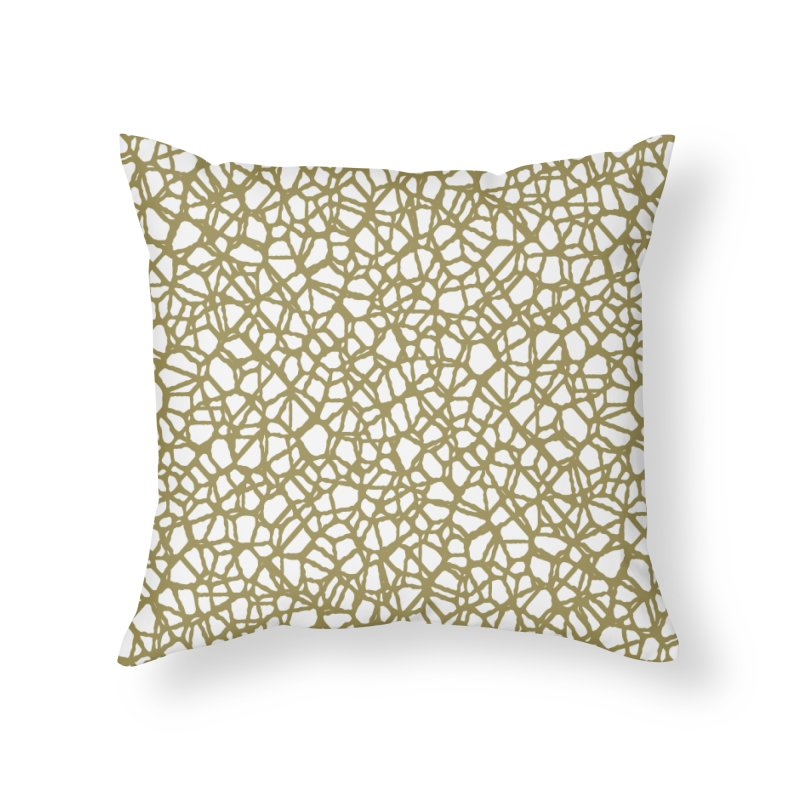 Staklo (Brown) Home Throw Pillow by trebam