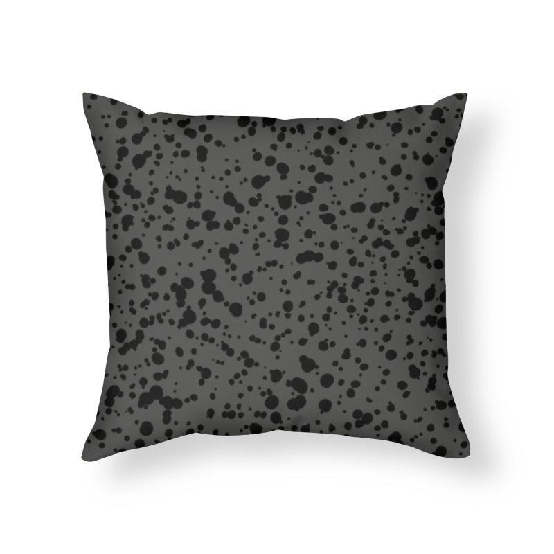 Curiti (Black/Gray) Home Throw Pillow by trebam