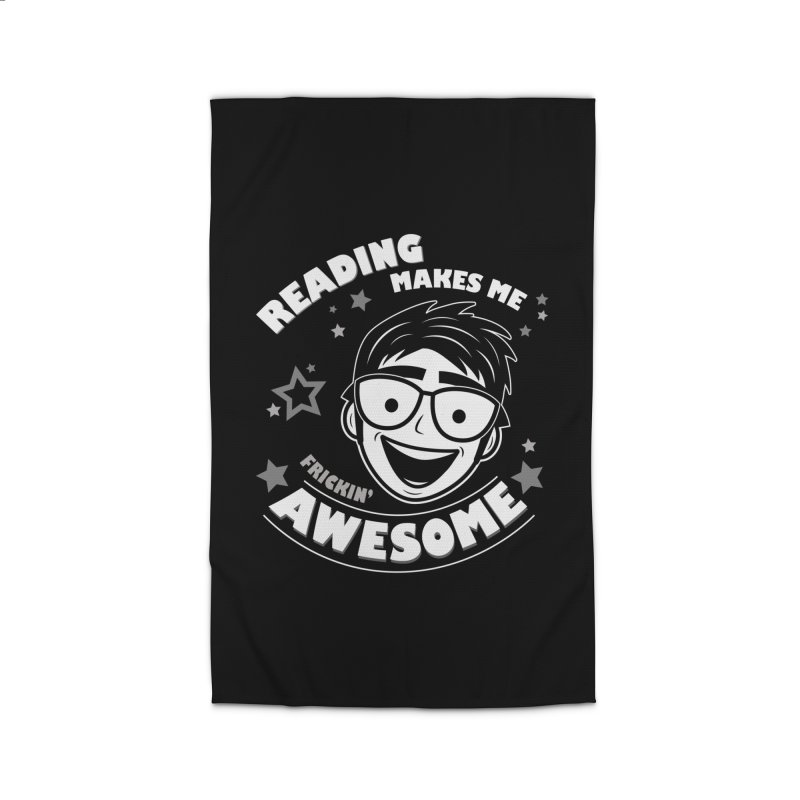 Reading Makes Me Frickin' Awesome Home Rug by Treemanjake