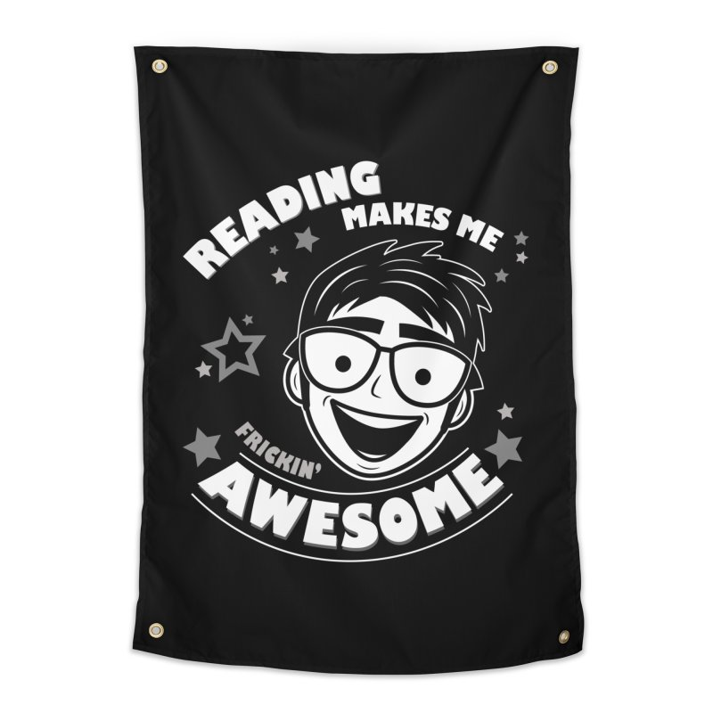Reading Makes Me Frickin' Awesome Home Tapestry by Treemanjake