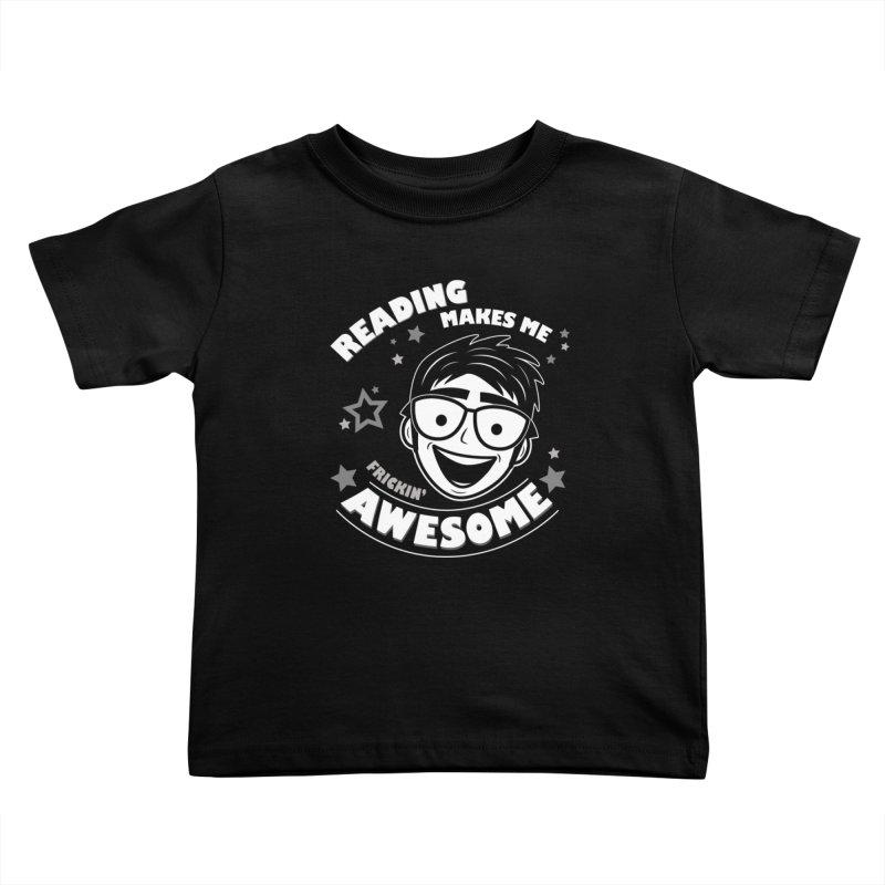 Reading Makes Me Frickin' Awesome Kids Toddler T-Shirt by Treemanjake