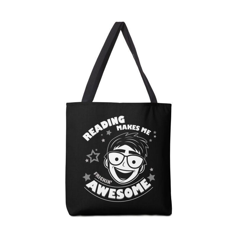 Reading Makes Me Frickin' Awesome Accessories Tote Bag Bag by Treemanjake