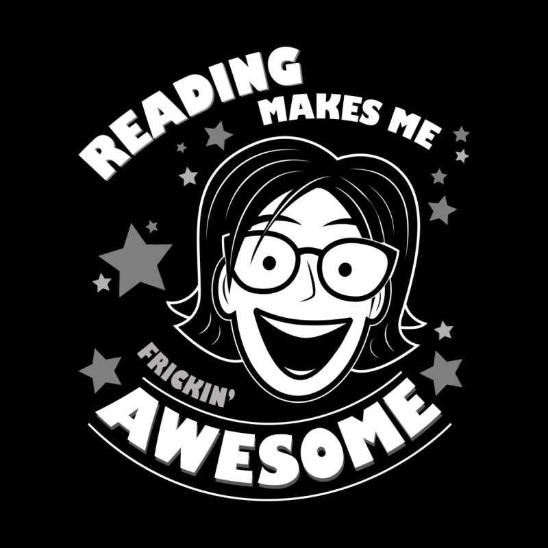 Frickin' Awesome Reading Nerd Kids T-Shirt by Treemanjake