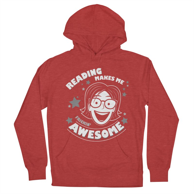 Frickin' Awesome Reading Nerd Men's French Terry Pullover Hoody by Treemanjake