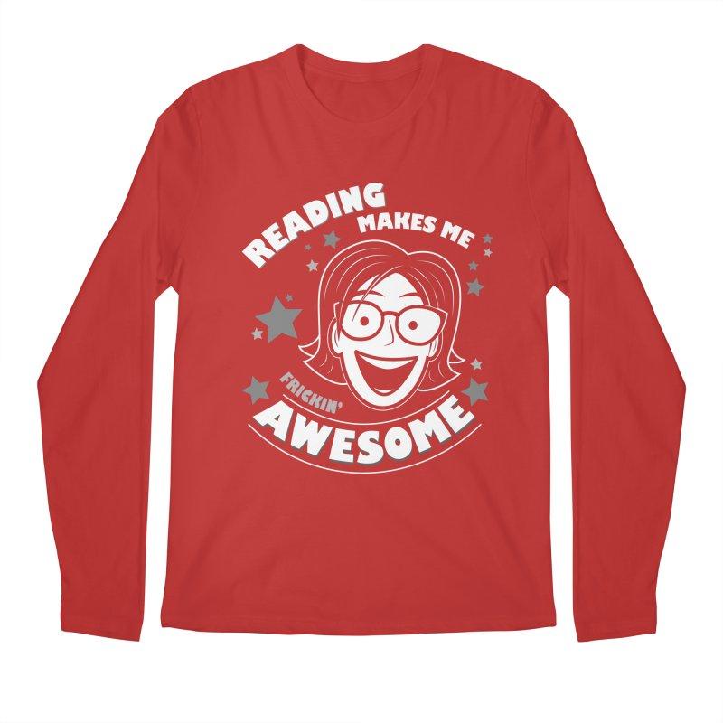 Frickin' Awesome Reading Nerd Men's Regular Longsleeve T-Shirt by Treemanjake