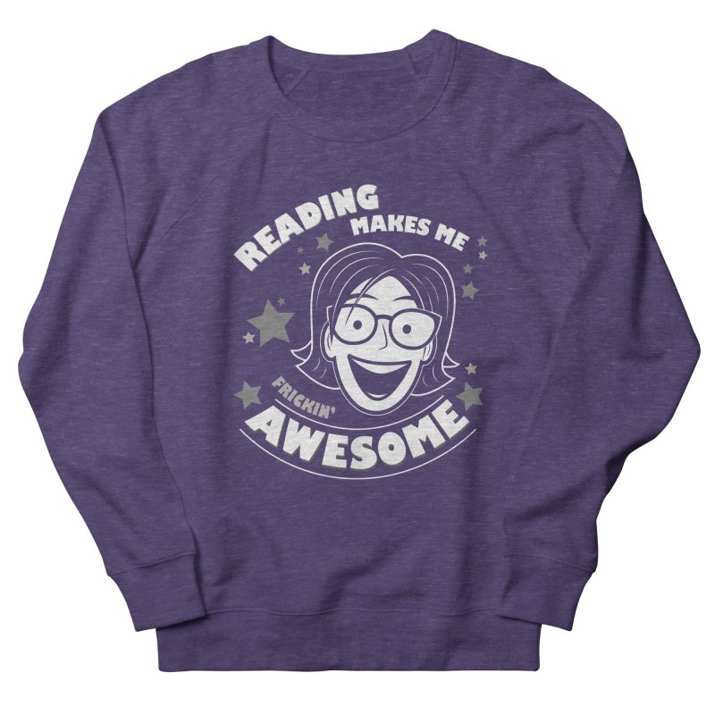 Frickin' Awesome Reading Nerd Men's French Terry Sweatshirt by Treemanjake