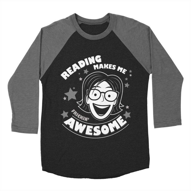 Frickin' Awesome Reading Nerd Men's Baseball Triblend Longsleeve T-Shirt by Treemanjake