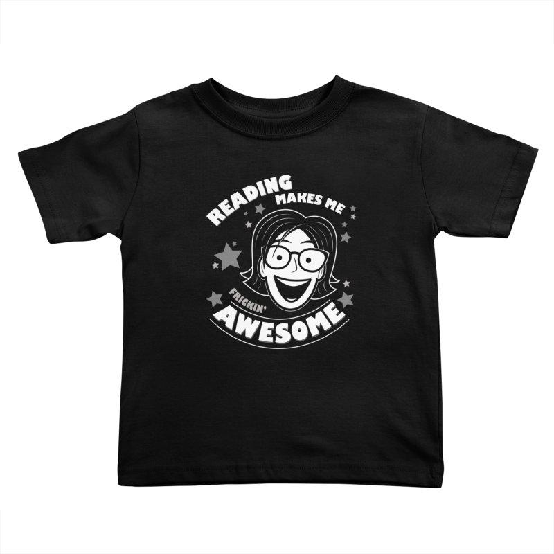Frickin' Awesome Reading Nerd Kids Toddler T-Shirt by Treemanjake