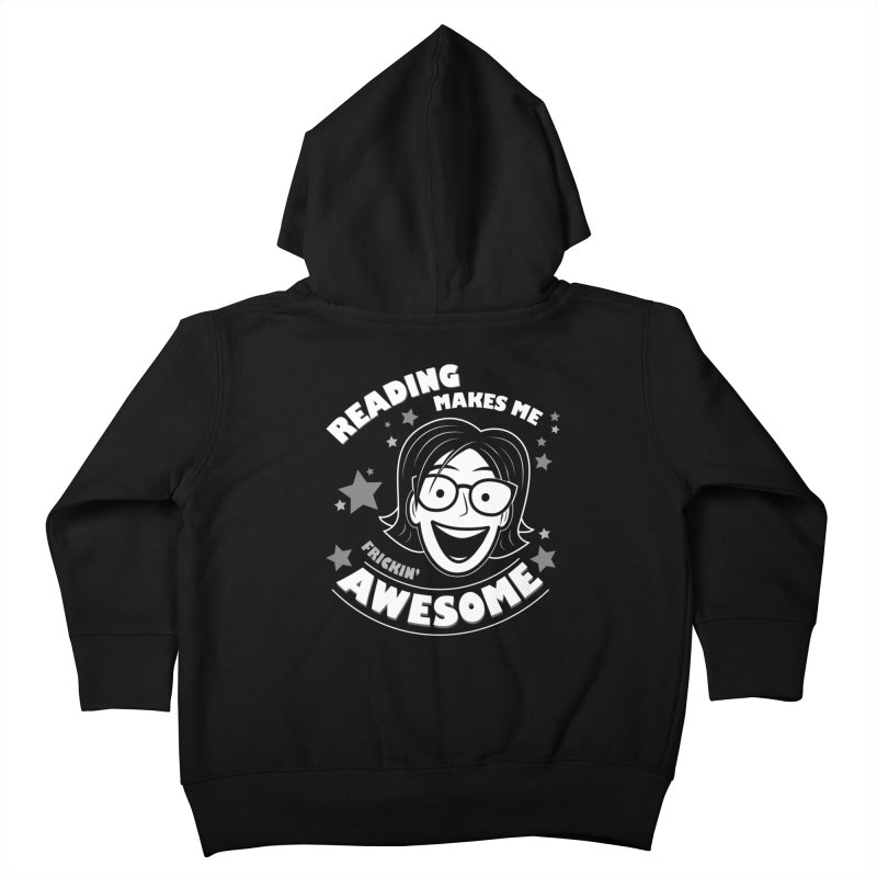 Frickin' Awesome Reading Nerd Kids Toddler Zip-Up Hoody by Treemanjake