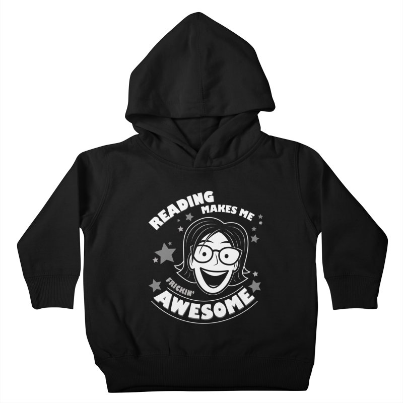Frickin' Awesome Reading Nerd Kids Toddler Pullover Hoody by Treemanjake