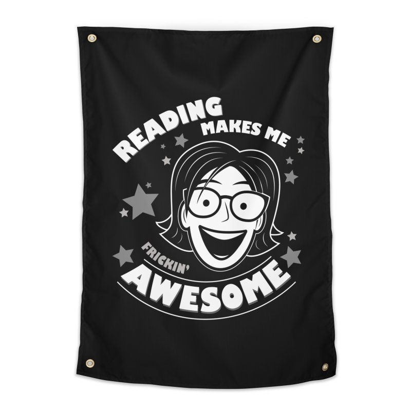 Frickin' Awesome Reading Nerd Home Tapestry by Treemanjake