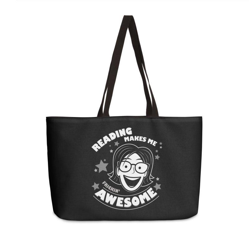Frickin' Awesome Reading Nerd Accessories Weekender Bag Bag by Treemanjake