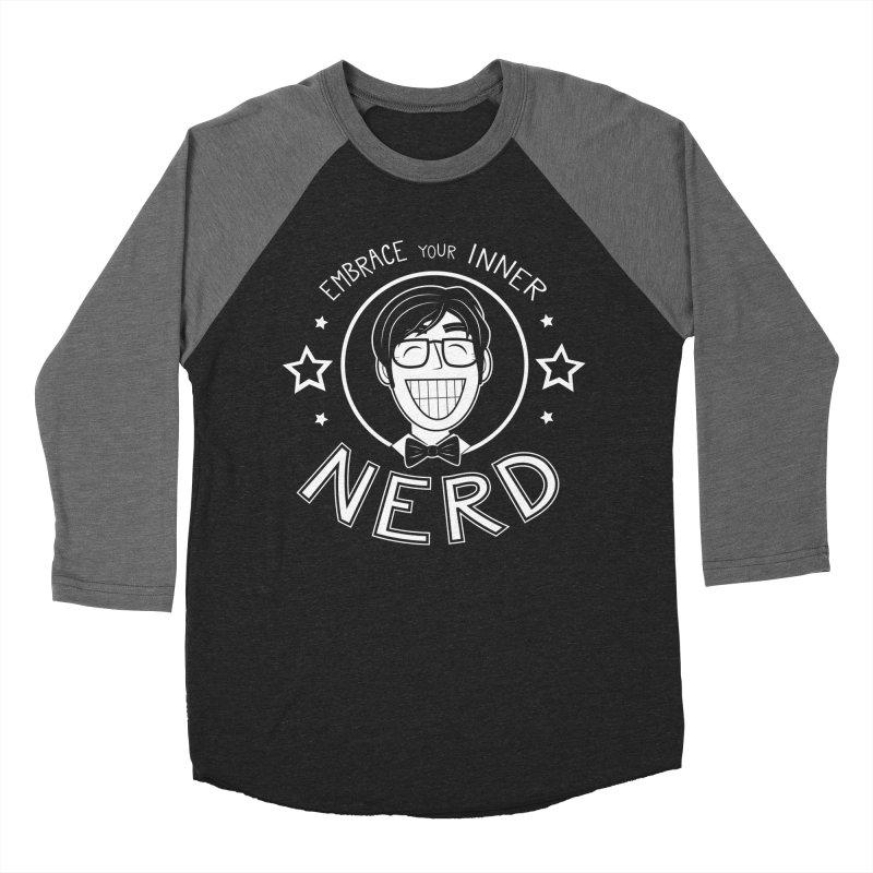 Nerd Guy Men's Baseball Triblend Longsleeve T-Shirt by Treemanjake