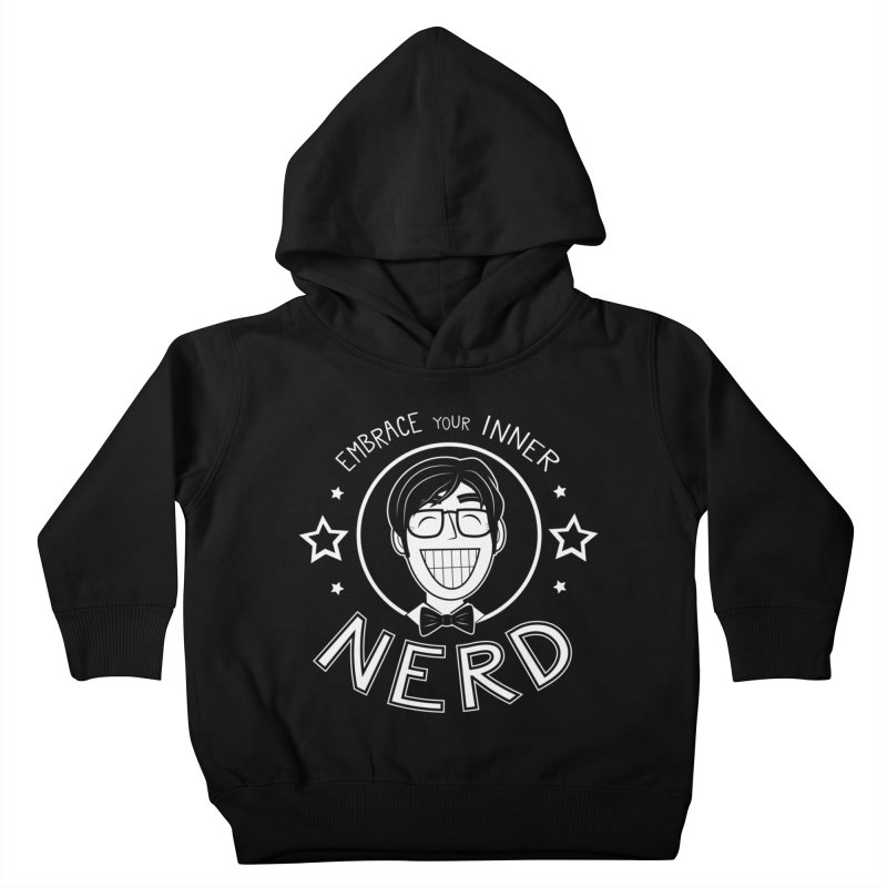 Nerd Guy Kids Toddler Pullover Hoody by Treemanjake