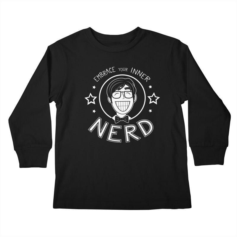 Nerd Guy Kids Longsleeve T-Shirt by Treemanjake