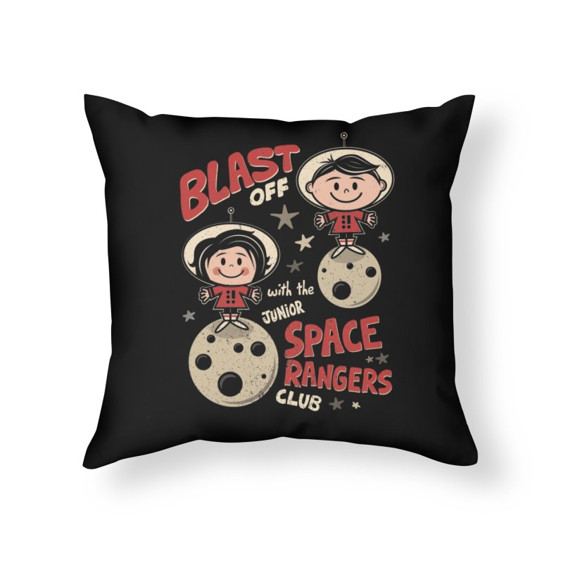 Space Rangers Club Home Throw Pillow by Treemanjake