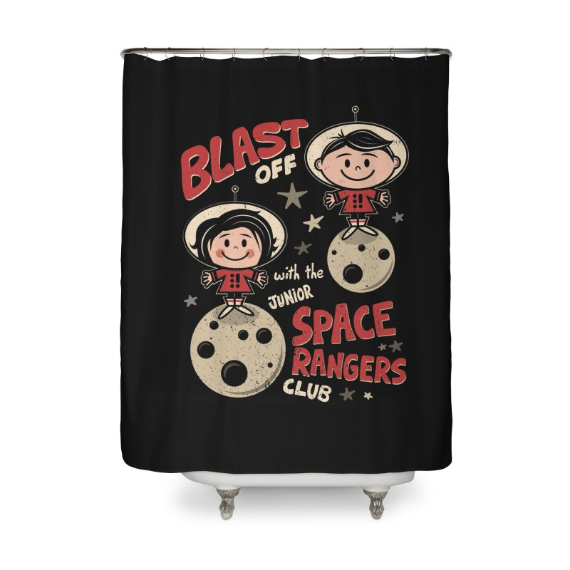 Space Rangers Club Home Shower Curtain by Treemanjake