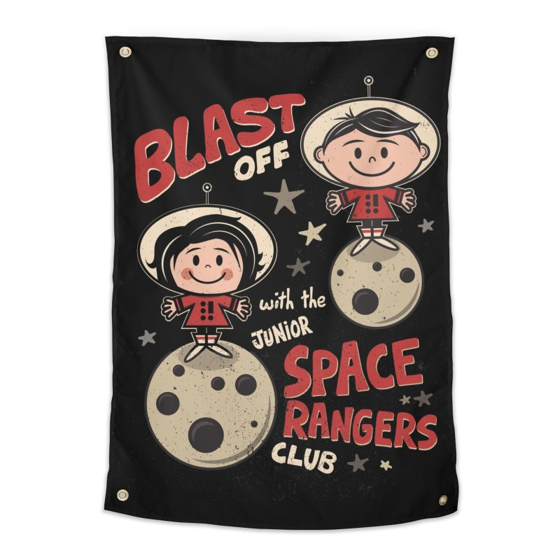 Space Rangers Club Home Tapestry by Treemanjake