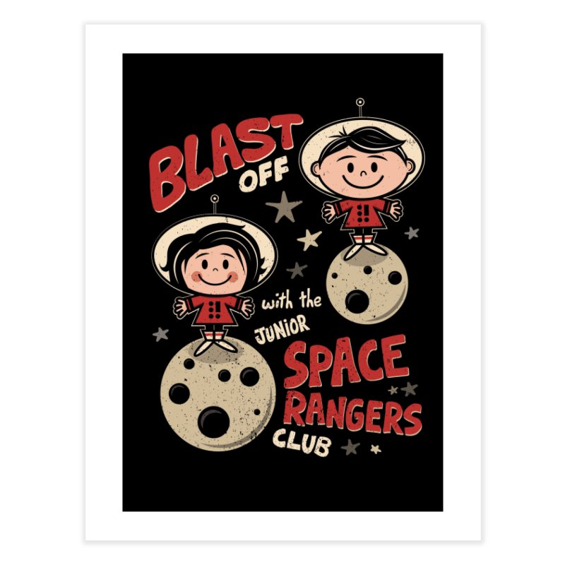 Space Rangers Club Home Fine Art Print by Treemanjake