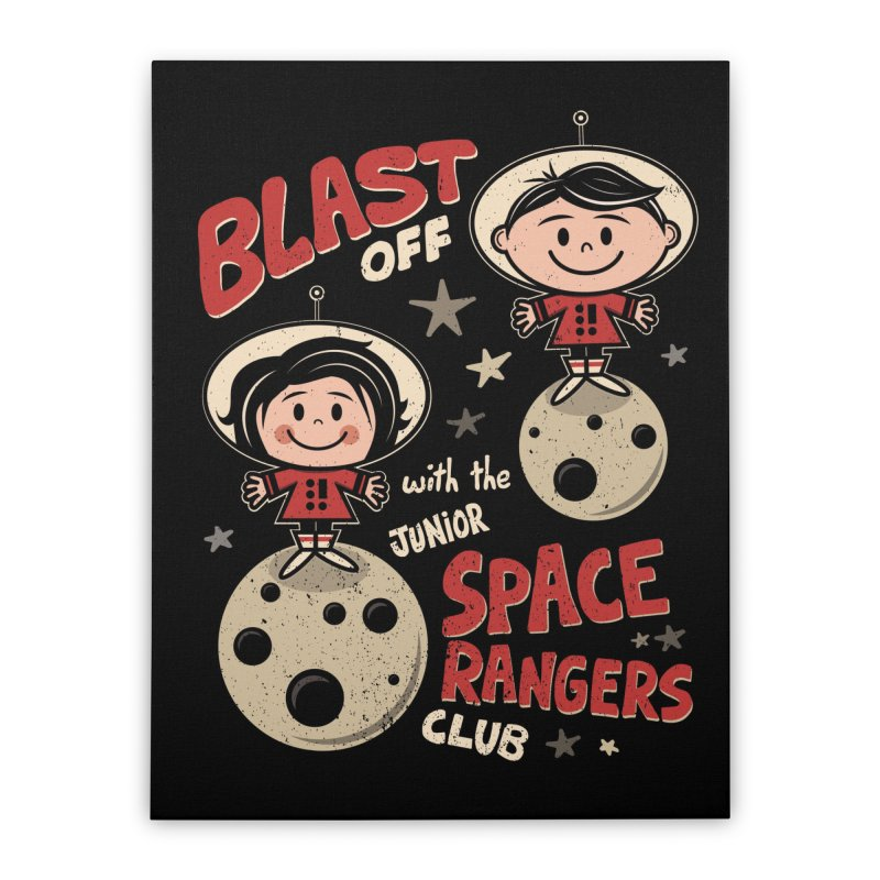 Space Rangers Club Home Stretched Canvas by Treemanjake
