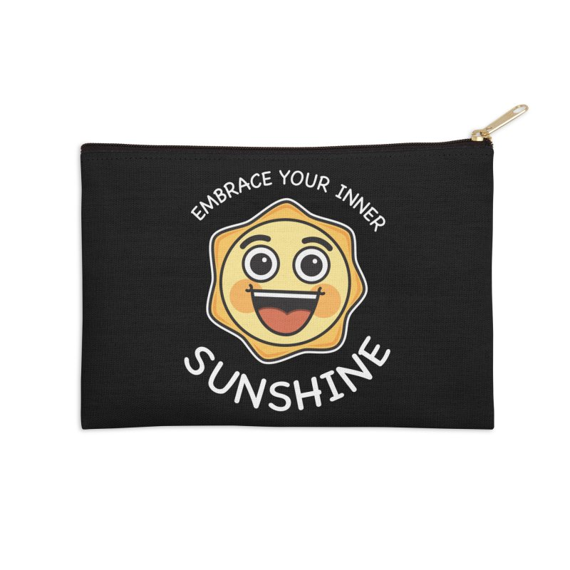 Embrace your Inner Sunshine Accessories Zip Pouch by Treemanjake