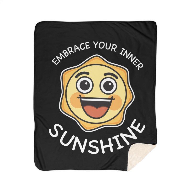 Embrace your Inner Sunshine Home Sherpa Blanket Blanket by Treemanjake