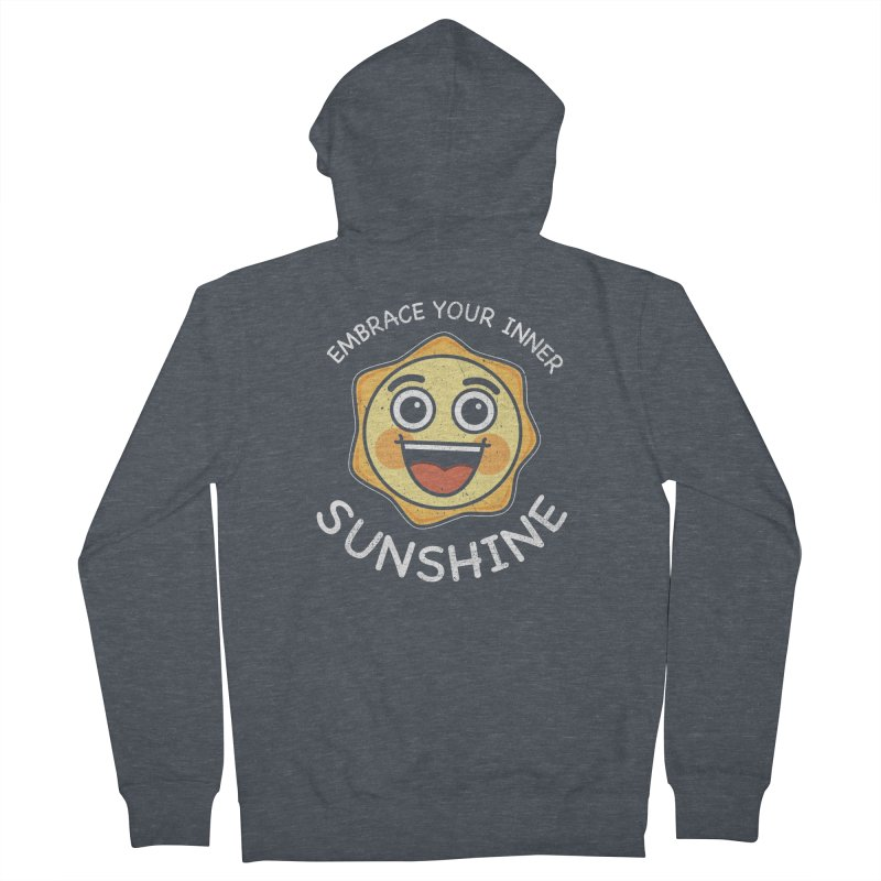 Embrace your Inner Sunshine Women's French Terry Zip-Up Hoody by Treemanjake