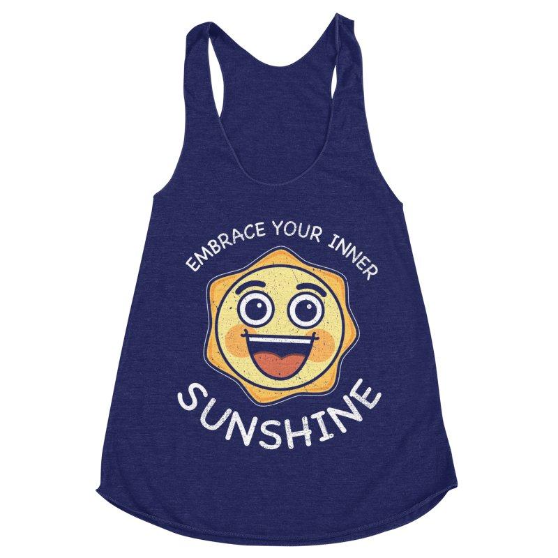 Embrace your Inner Sunshine Women's Racerback Triblend Tank by Treemanjake