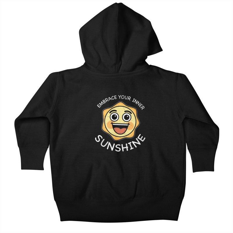 Embrace your Inner Sunshine Kids Baby Zip-Up Hoody by Treemanjake
