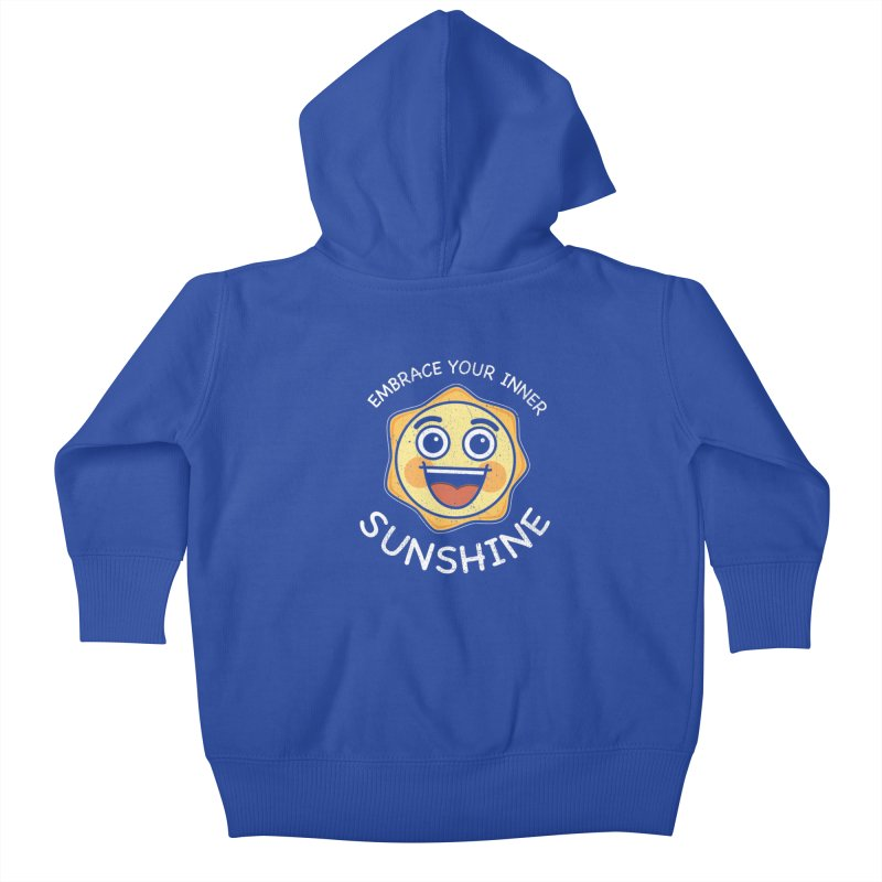 Embrace your Inner Sunshine Kids Baby Zip-Up Hoody by Treemanjake