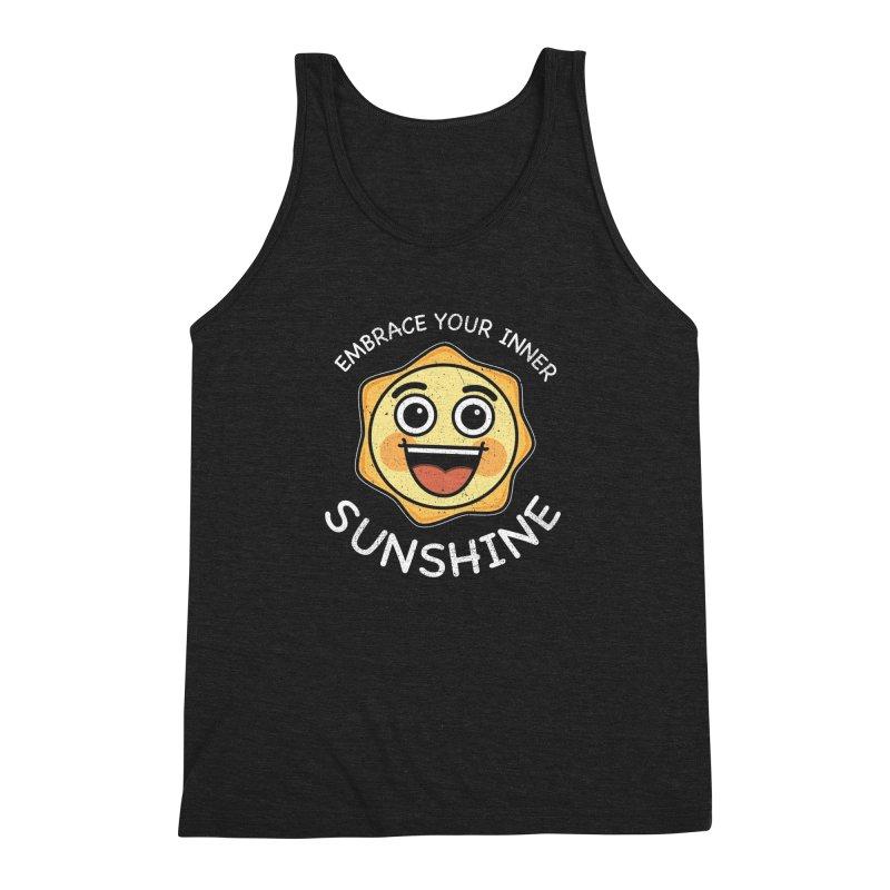 Embrace your Inner Sunshine Men's Triblend Tank by Treemanjake