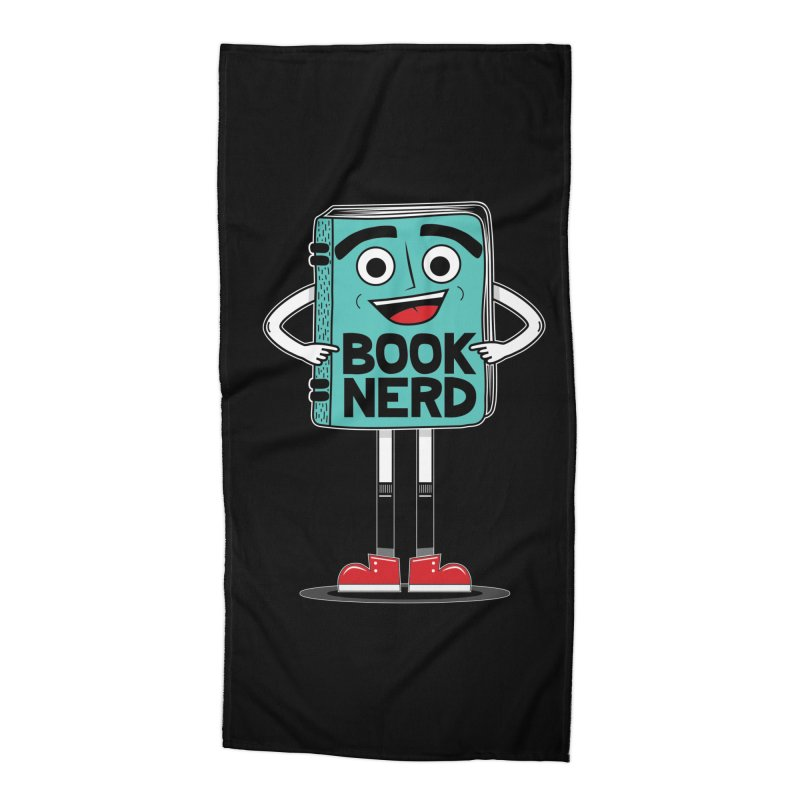 Book Nerd Accessories Beach Towel by Treemanjake