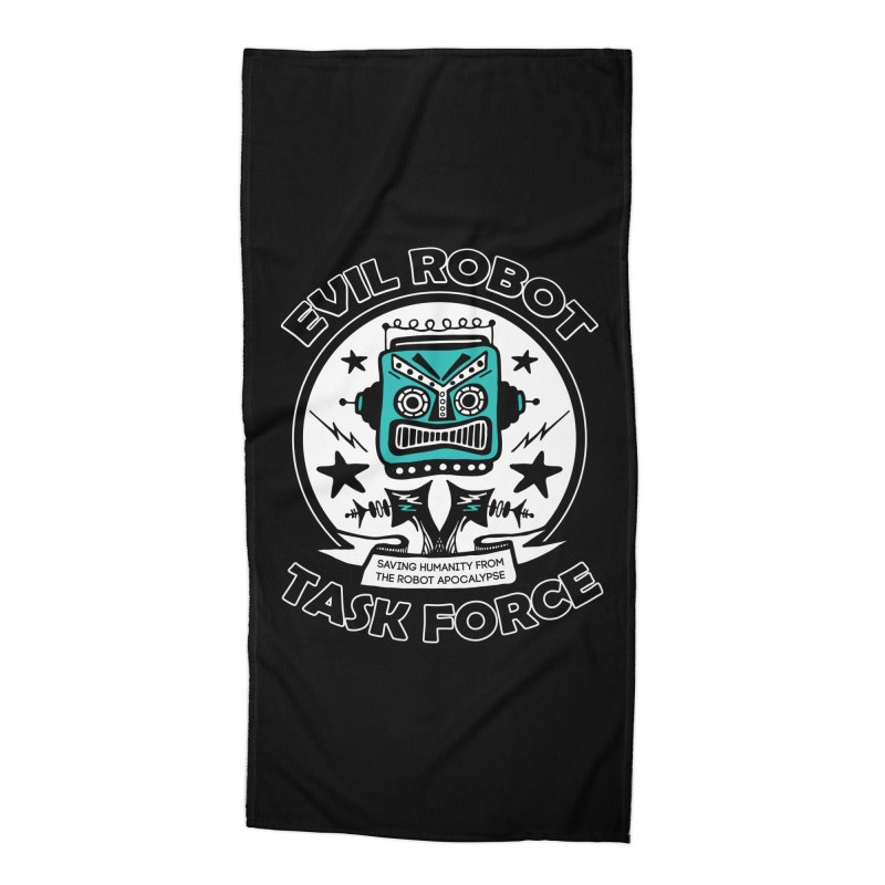 Evil Robot Taskforce Accessories Beach Towel by Treemanjake