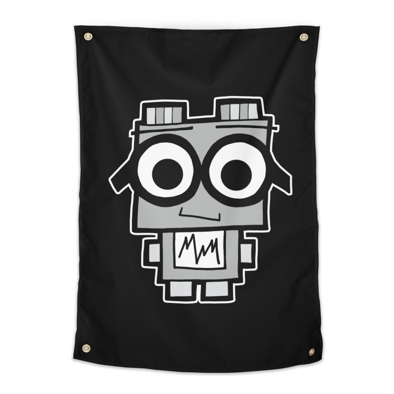 Nerdy Robot Home Tapestry by Treemanjake
