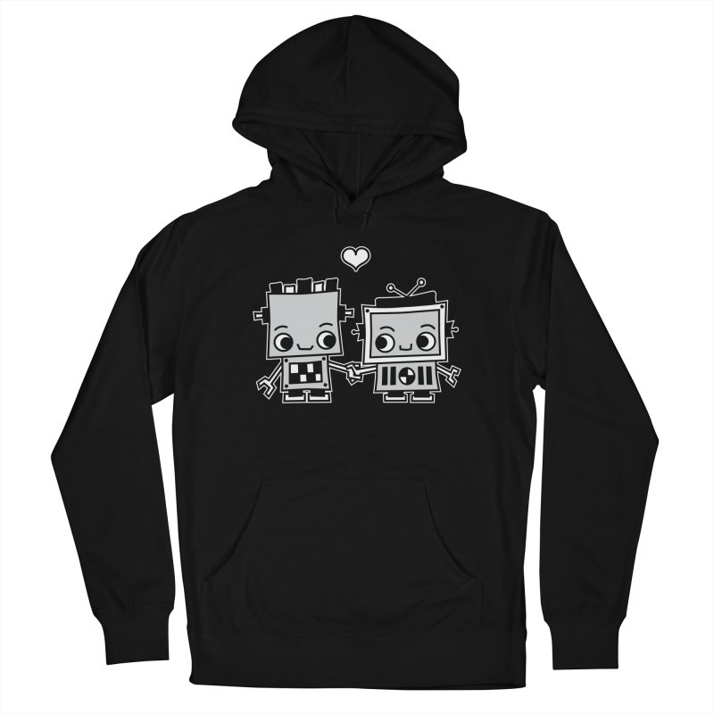 Robot Love Men's French Terry Pullover Hoody by Treemanjake