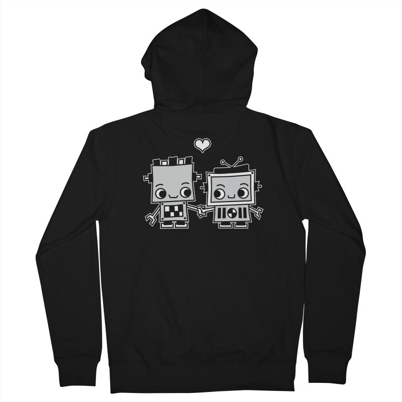 Robot Love Women's French Terry Zip-Up Hoody by Treemanjake