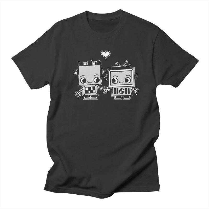 Robot Love Men's Regular T-Shirt by Treemanjake
