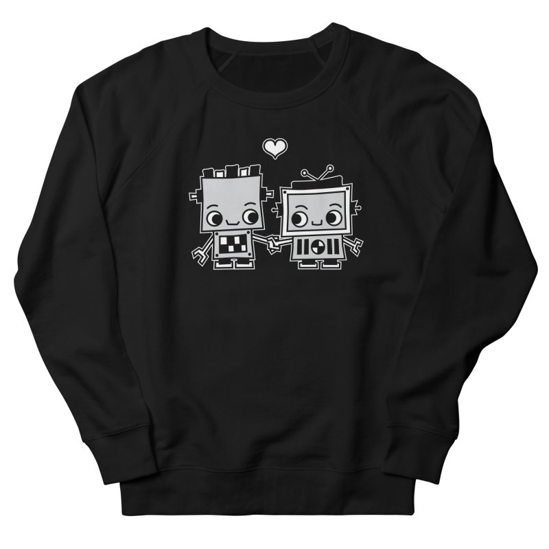 Robot Love Women's French Terry Sweatshirt by Treemanjake