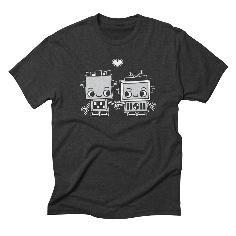 Robot Love Men's Triblend T-Shirt by Treemanjake