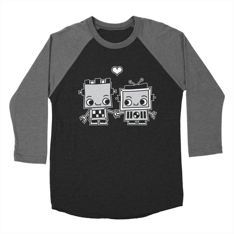 Robot Love Men's Baseball Triblend Longsleeve T-Shirt by Treemanjake